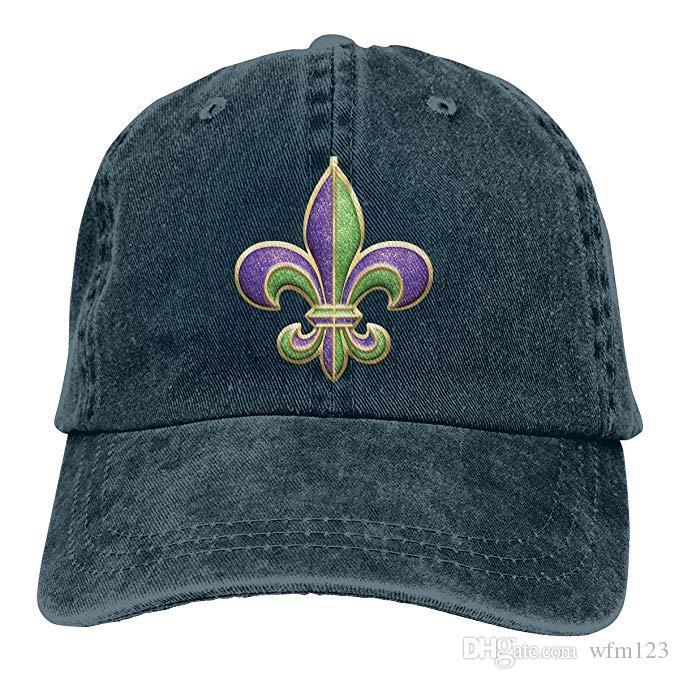 2019 New Designer Baseball Caps Print Hat Fleur De Lis Mens Cotton  Adjustable Washed Twill Baseball Cap Hat Cap Hat Flat Caps For Men From  Wfm123 6f0348f15111