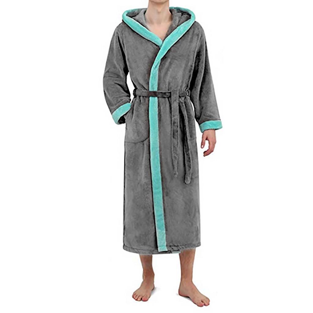 f865854f8ff1 2019 Bathrobe Men Women S Winter Hooded Lengthened Long Sleeved Plush Shawl  Bathrobe Sexy Warm Bath Robe Dressing Gown Bath Gown Men From Robertiu