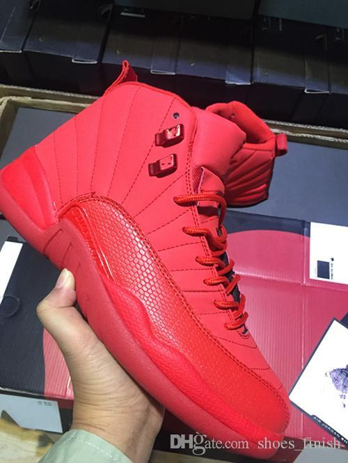 reputable site 7bd40 ea851 Winter Design Gym Red 12 12s Men Casual Shoes Michigan College Navy OVO  MELO Taxi Designer Shoes XII Mens Sports Sneakers Size 40-47