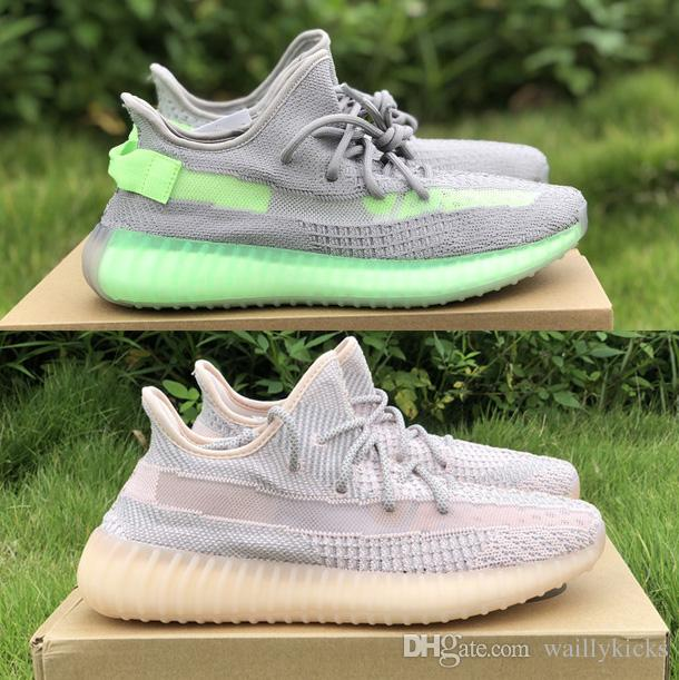 new style 985fe 22155 Reflective Lundmark non-reflective v2 Static Kanye West Shoes Static 350s  Tennis Antlia Synth GID Glow in the dark custom designer sneakers