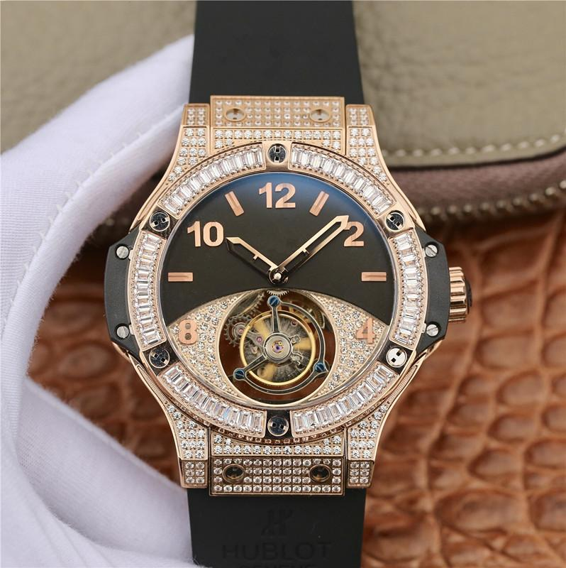 luxury mens watches 44mm mechanical Stainless Steel movement automatic waterproof watches men sports Diamond hollow watch Sapphire mirror