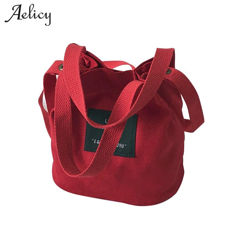 02ee08d30408 Designer Aelicy Lady Canvas Handbag Mini single shoulder bag Female  shopping bags Bucket pack Fashion Designer Women Swagger Bag 0824