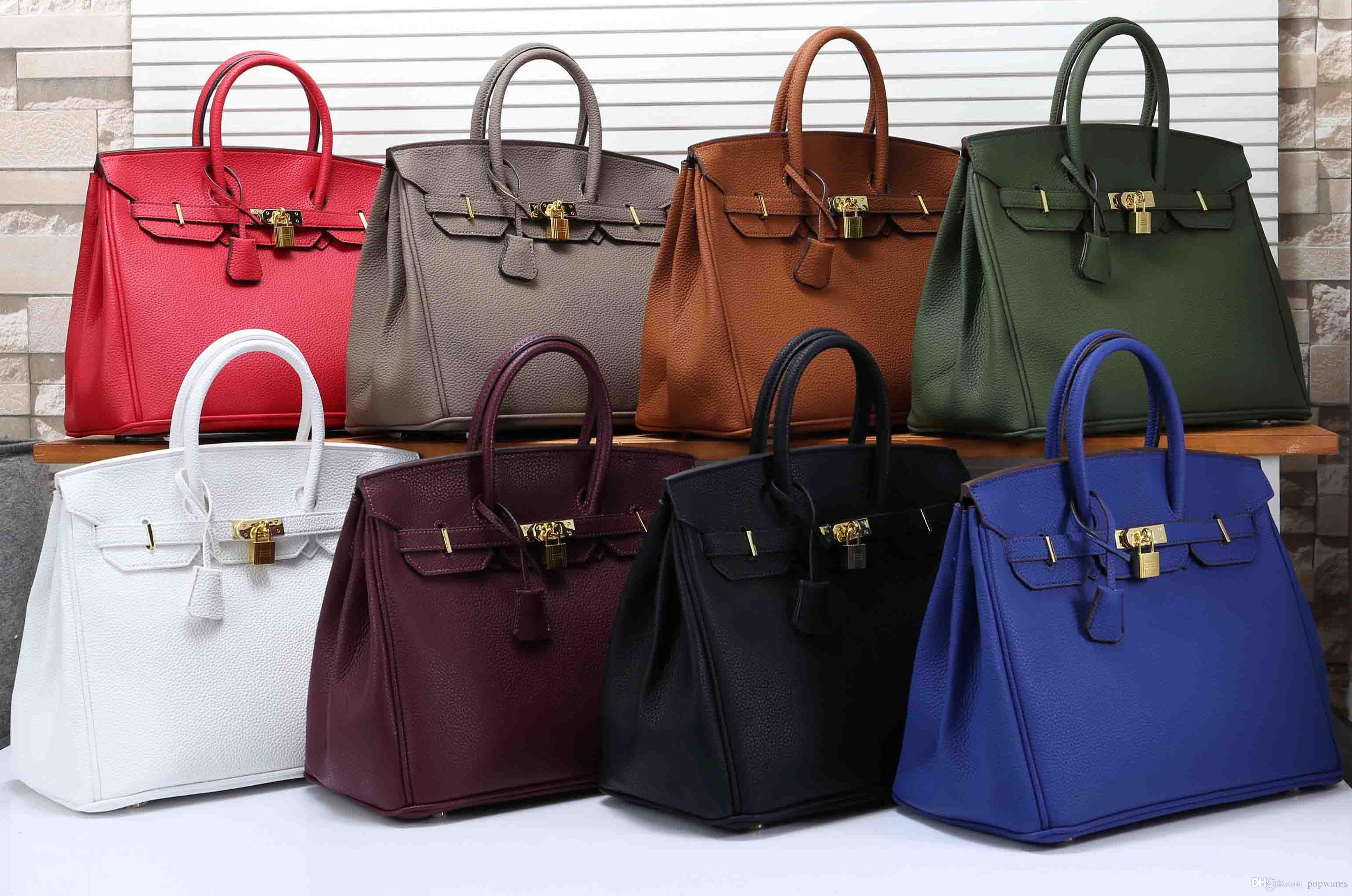 68040a0ab9d4 2019 New Designer Shoulder Bags Luxury Plain Leather Shopper Bag ...