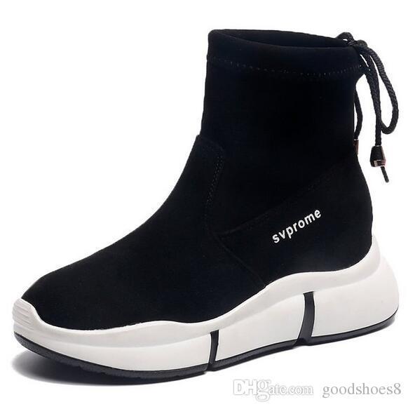12489f7983bcb Acquista Scarpe Alte Donne 2019 Nuovo Inverno Versione Coreana Di Scarpe  Sportive Selvagge Sportive Gaobang Rosso Netto Più Velluto Scarpe Da Donna  Inverno ...