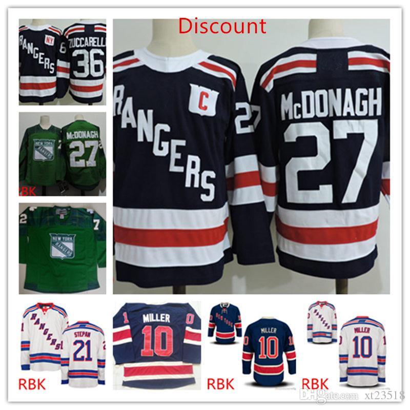 innovative design d716d 51519 Discount Mens New York Rangers Ryan McDonagh 2018 Winter Classic Jersey #10  JT. Miller Derek Stepan Mats Zuccarello New York Rangers Jerseys