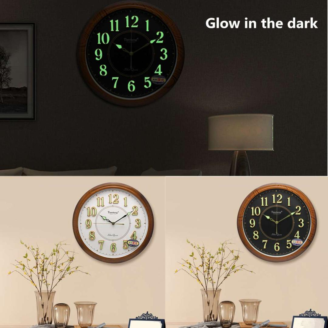 Nachtlichter Glow Dark Hängende Uhren Kurze Moderne Wanduhren Leuchtende  Wanduhr Quarzuhr Wohnkultur Wohnzimmer