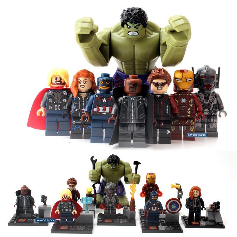 Super Spiderman D Jouets Hulk Amis Batman Action C19041501 Militaires Marvel Avengers Héros Deadpool Blocs Figurines l3uFcK1JT