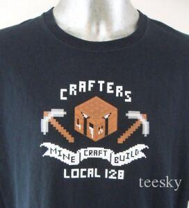 Harajuku Crafters Build Local 128 Think Geek 4XL T Shirt Video Game EUC