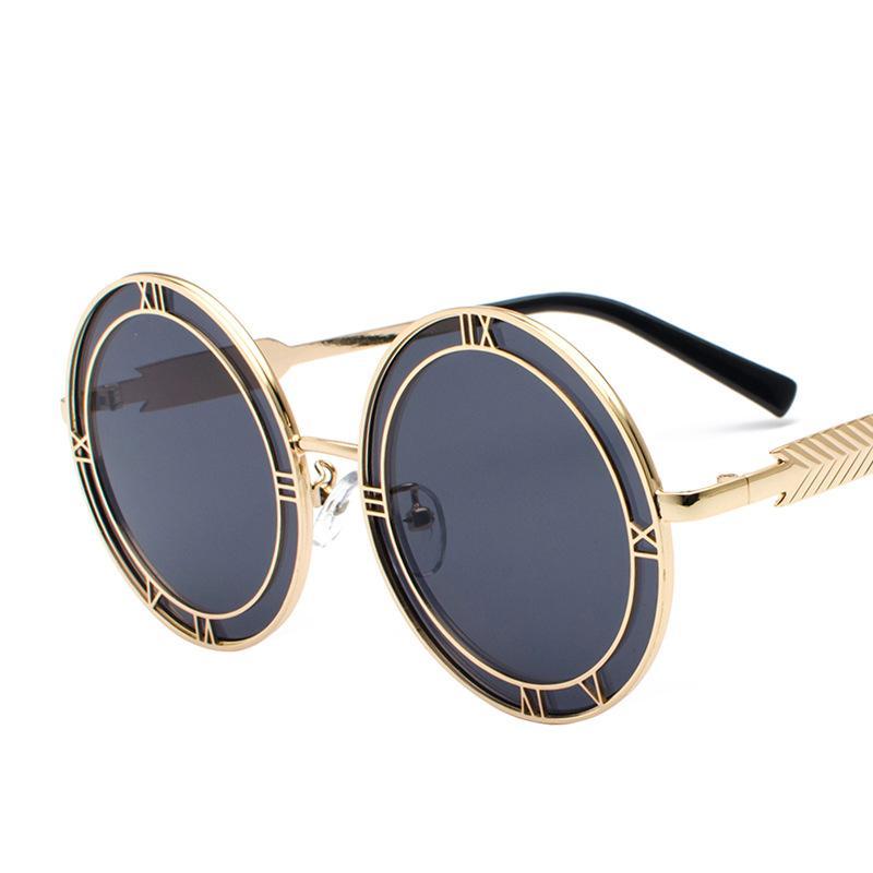 da8796e3211f3 Compre Romana Designer De Óculos De Sol Para Homens E Mulheres Clássico  Moda Óculos Unisex Rodada Óculos De Sol Do Vintage Clássicos Tons De Óculos  De Sol ...