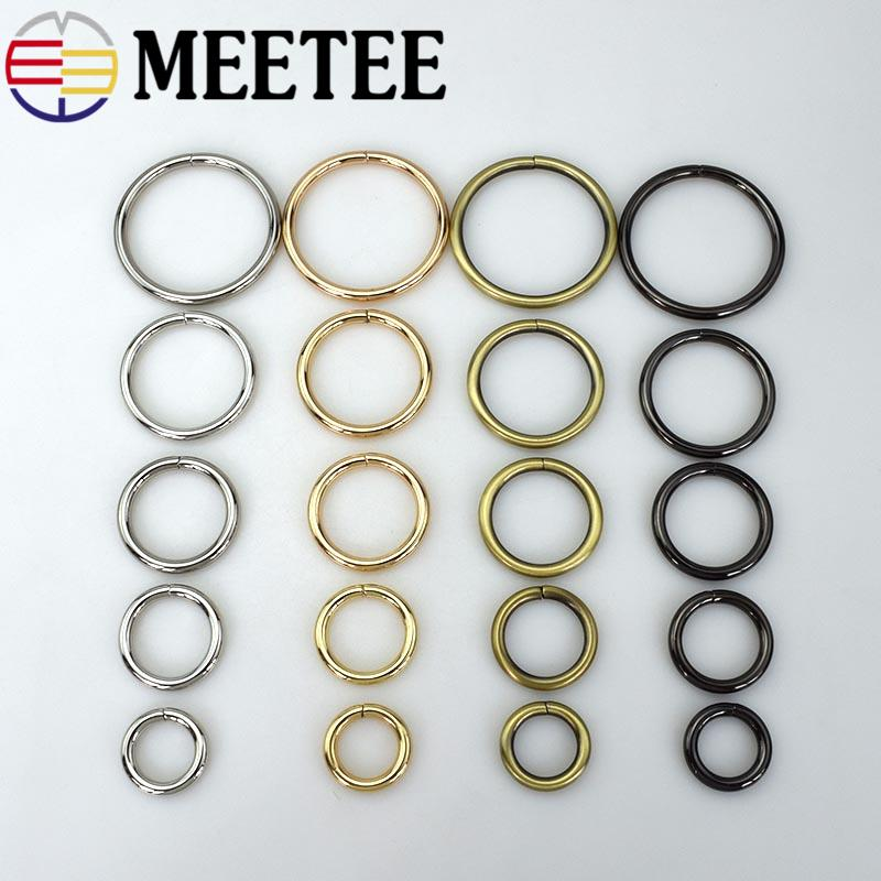 Meetee Metal D O Shape Ring Buckle Circle Connection Bag Strap button Belt Dog Collar open inner diameter Parts Accessories