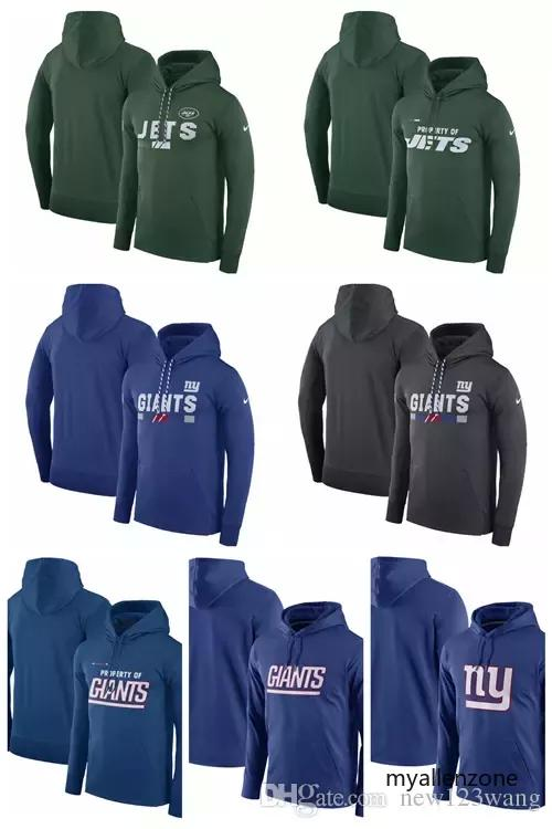separation shoes 8c436 32b66 New York Jets New York Giants Team Name Performance Pullover Hoodie