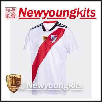 2019 2018 2019 River Plate Home White Soccer Jersey 18 19 Football Uniforms  Libertadores Champions MARTINEZ QUINTERO Shirt From Newyoungkits a0ebf9a0b