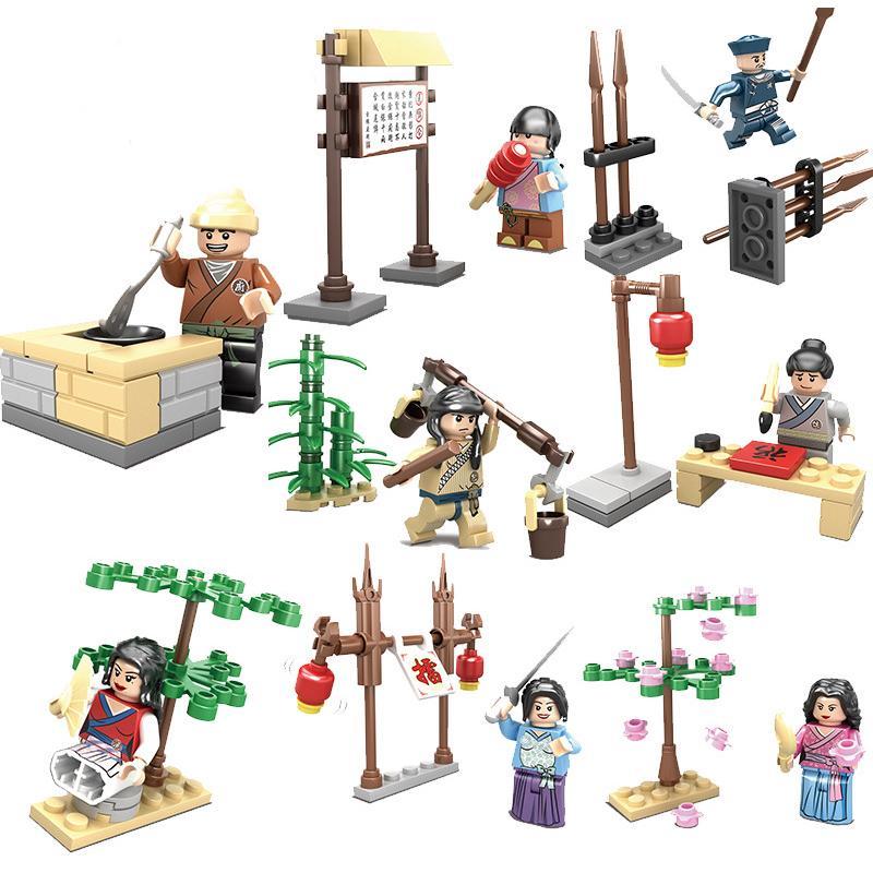 71161de991e9e Acheter / Set Figures Chinoises Avec Des Scènes De Bande Dessinée Dessin  Animé De Signe Chiffres Briques Modèles Jouets Enfants Cadeau Jouets De  $10.06 Du ...