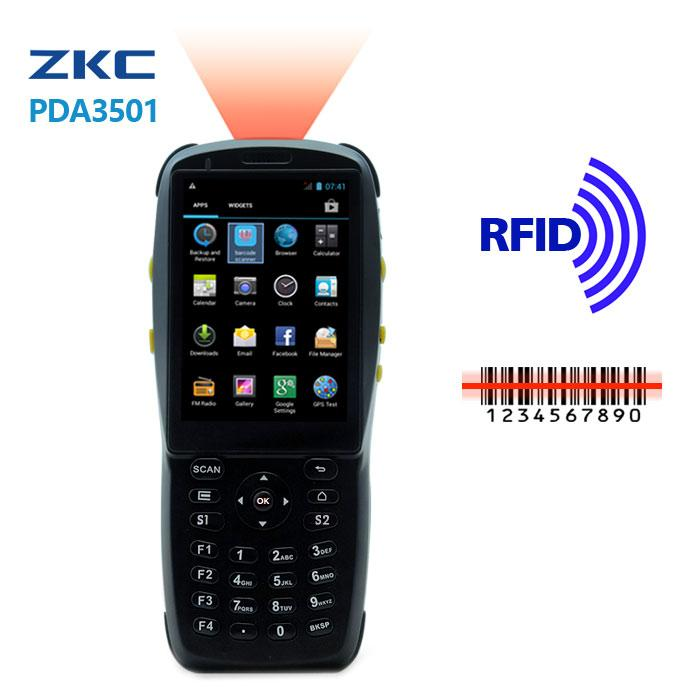 Handheld PDA mobile barcode scanner data terminal with android operation  system and RFID/NFC reader