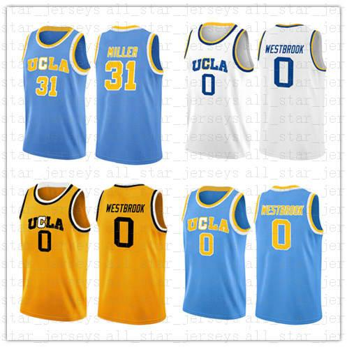 new style ed2f7 01ace NCAA Campus bear UCLA Russell 0 Westbrook Reggie 31 Miller Jersey College  Basketball Wears size s-xxl