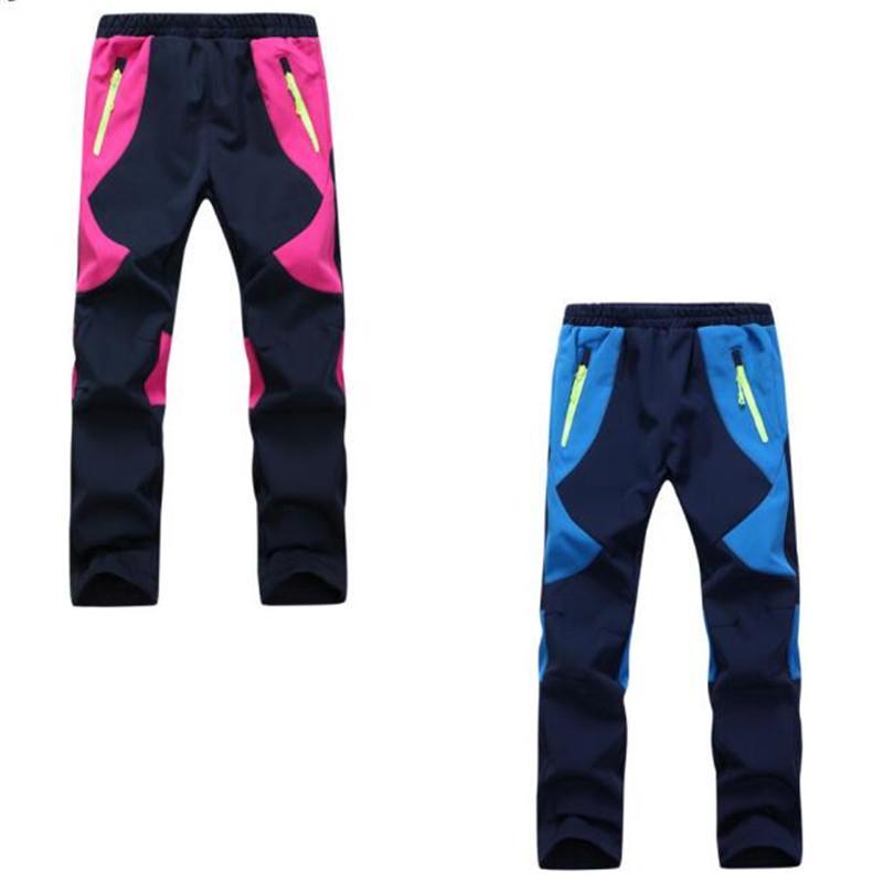 Kids Fleece Ski Pants Camping Hiking Climbing Combat Trousers Boys Girls  Outdoor Windproof Waterproof Warm Pants Bogners Children XS 2XL Colour Pants  For ... 737f8e686