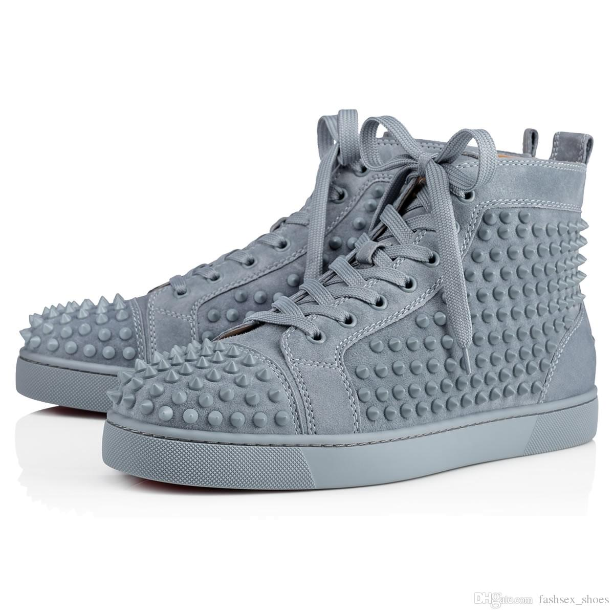 3ec8374de9ef 2019 Brand Fashion Men Designer Shoes Women Luxury Strass Spikes ...