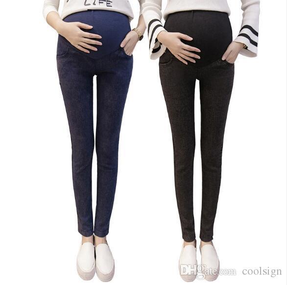 negozi popolari presa all'ingrosso nuovo design Vendita calda Donna incinta Jeans strappati Pantaloni premaman Pantaloni  Infermieristica Prop Belly abbigliamento leggings per abbigliamento da donna