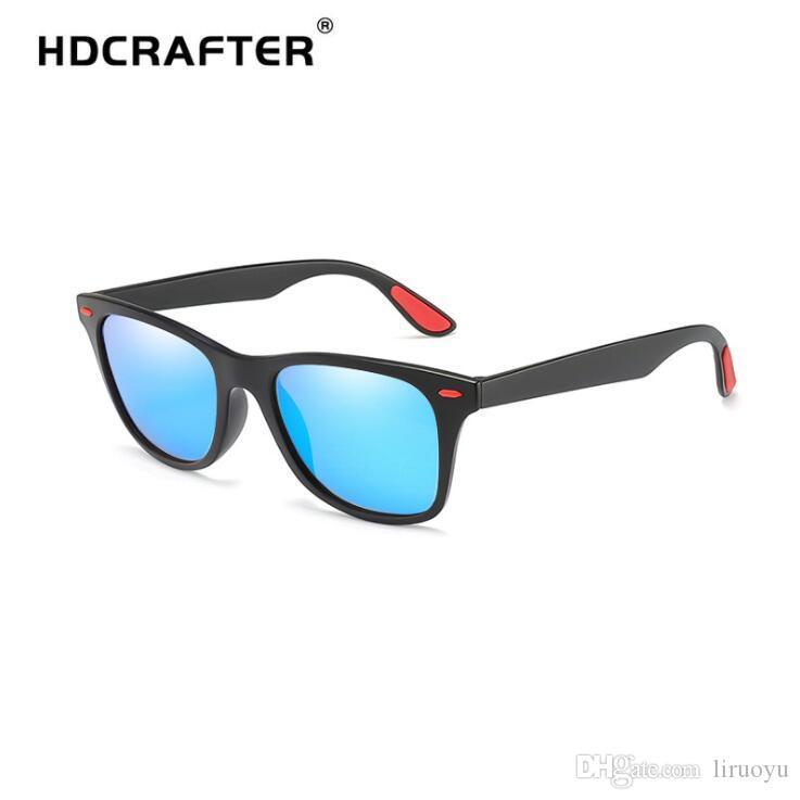 6b57dd1b9 Compre HDCRAFTER Marca Pára Brisa Óculos De Proteção Dos Homens Polarizados  Óculos De Sol Anti Reflexo Óculos De Proteção À Prova De Ultravioleta Ao Ar  ...