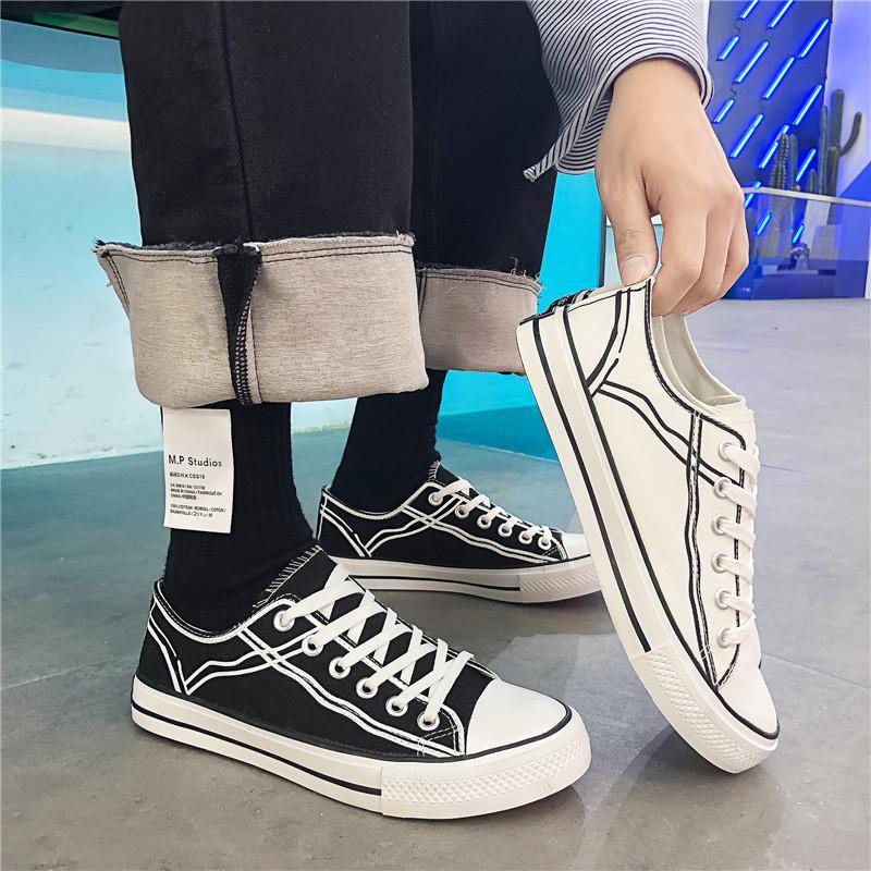 9eb4477b Compre Primavera 2019 Nuevos Zapatos De Lona Para Hombre Zapatos De Hombre  Transpirable Moda De Hong Kong Zapatos De Ocio De Moda Para Estudiantes A  $43.65 ...
