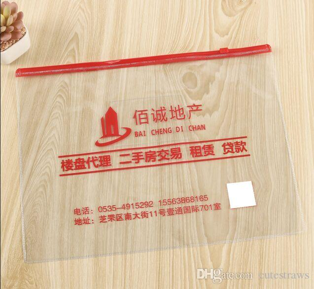 A4 A5 A6 Plastic Soft PVC Document File Folder Zipper Pocket Bags  Stationery Organizer