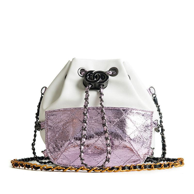 Stitch Hit Color Bucket Bag Female New Fashion Lingge Pattern Shoulder Bag  Casual Wild Personality Chain Messenger Bag Leather Bags For Women Womens  Bags ... 01c3c30ebe1d8