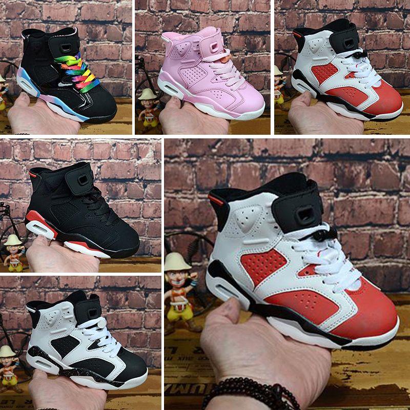 1add18dda4d87 Compre Nike Air Max Jordan 6 Retro Barato Niño Niños Uptempo Niños Zapatos  De Baloncesto De Calidad Superior Niños Niñas Retro Diseñador Zapatos Enfant  ...