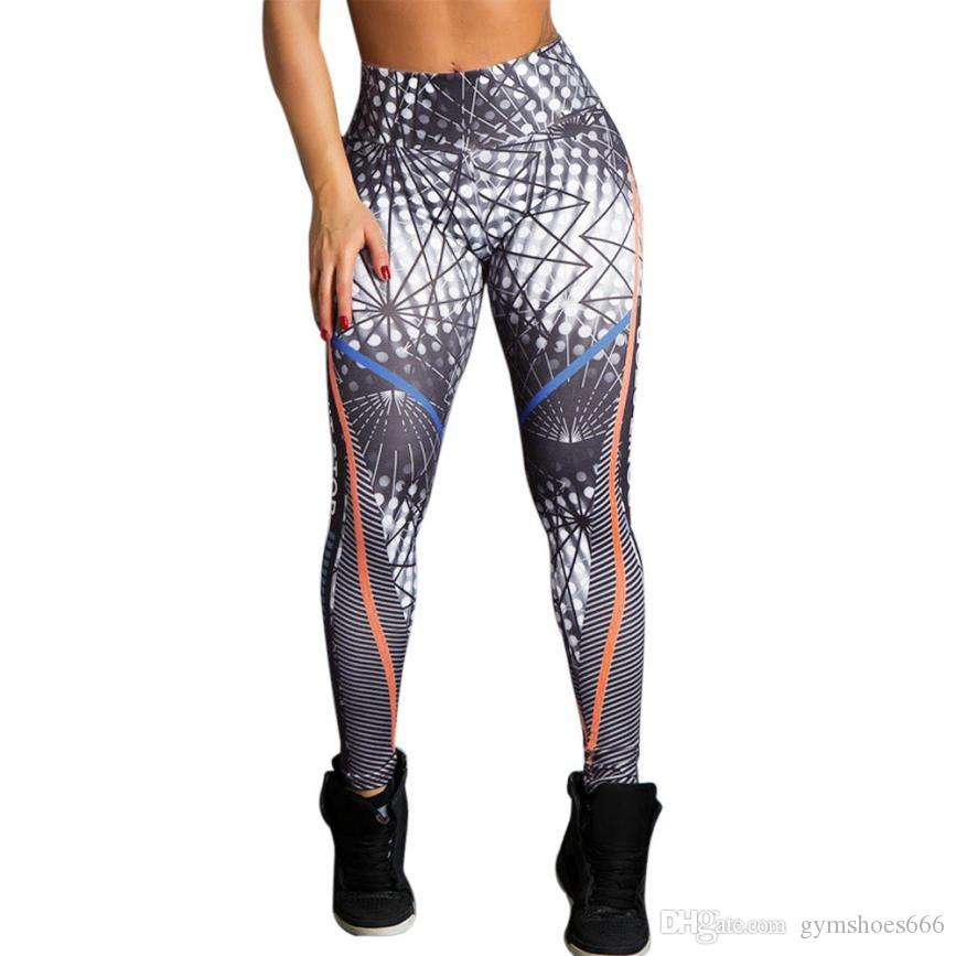 6470524cfec Vintage 3D Printing Gym Leggings Women Sportswear Sexy Stretchy Workout  Yoga Pants Ladies Quick-drying Running Sport Trouser #Ju #281035
