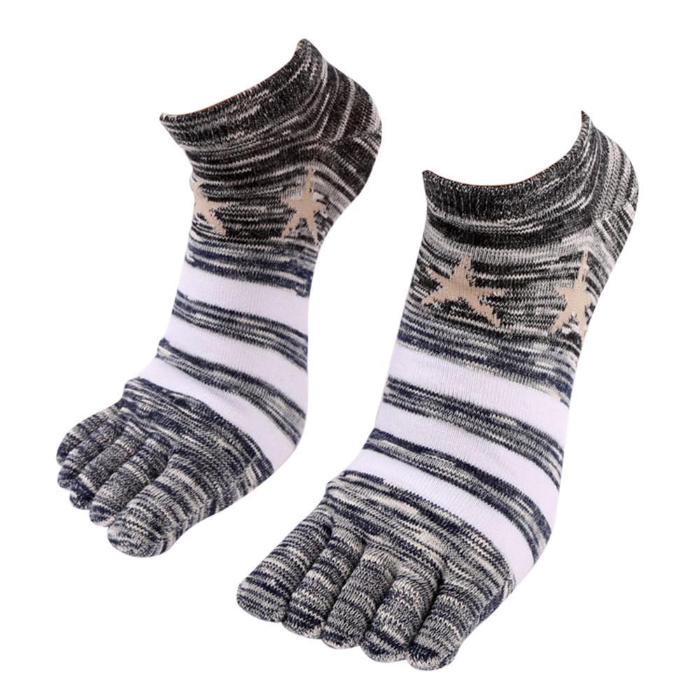 578b2c5b39d3 Stock Fashion Casual Cotton Socks Fashion Men Five Fingers Anti Slip ...