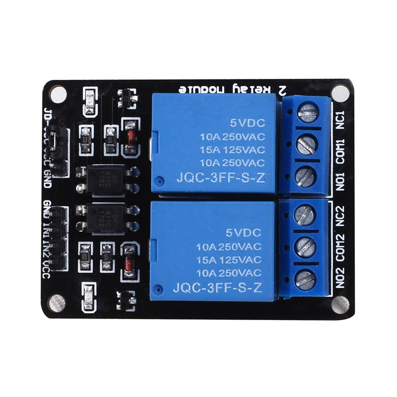 10pcs/lot 2-way relay module 5V 12V 24V with optocoupler protection Relay expansion board MCU development module