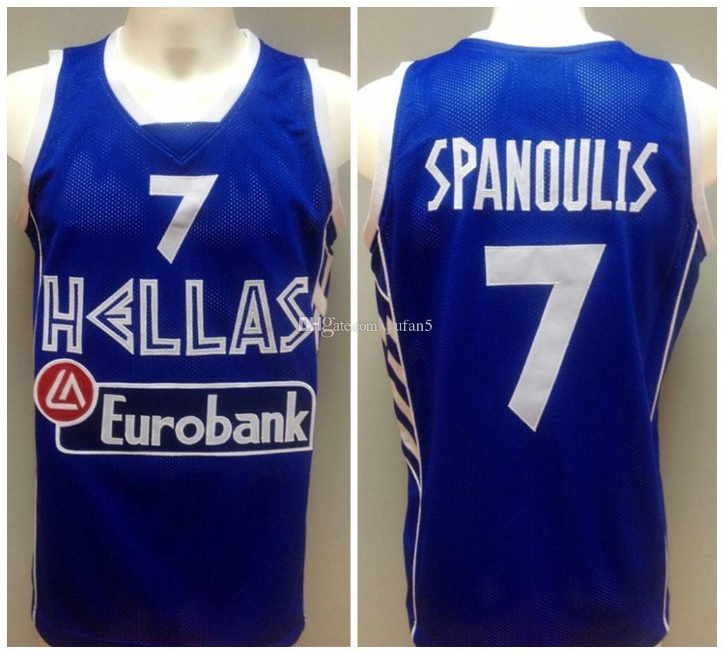 403ea87d5 Acquista Vassilis Spanoulis   7 Team Grecia Hellas Retro Maglie Di ...