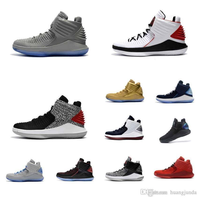 933ede2eafc5 Cheap New Mens Jumpman XXXII 32 Basketball Shoes for Sale Grey Black ...