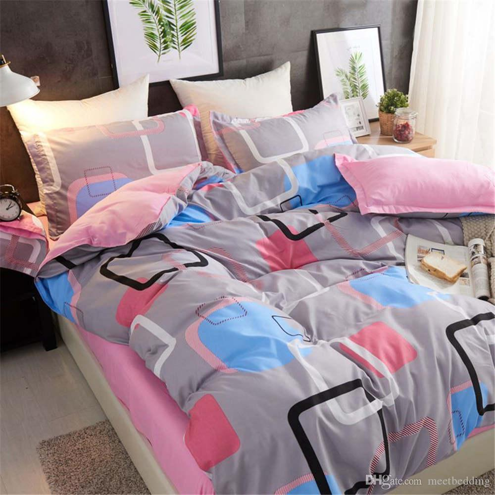 Wholesale Modern Bedding Set Single Double King Size Gift for kids Bedding Suit 2/3pcs with Pillowcase of Bed Cover Suit