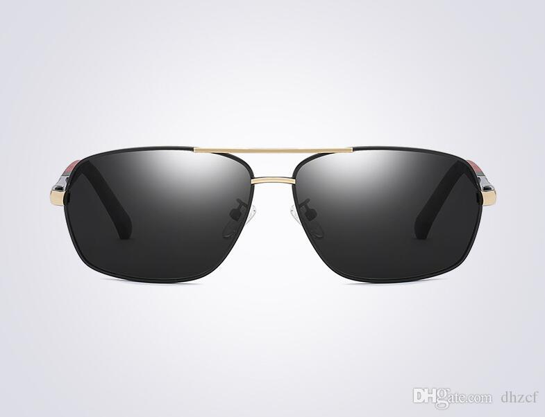 059d15916c Compre Nueva Moda De Metal Gafas De Sol Polarizadas Para Hombres Marea  Ligera Bromista Coloridas Gafas De Sol De Conducción Espejo Directo De  Fábrica 8724 ...