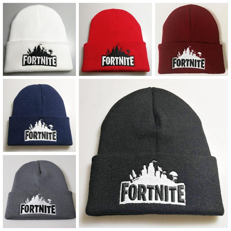 ed04d5e15 6 styles Fortnite Beanies Fortnite Hats Fortnite Battle Knit Hat Hip Hop  Embroidery Knitted Caps Teenager Winter Warm Skull Beanies 20pcs