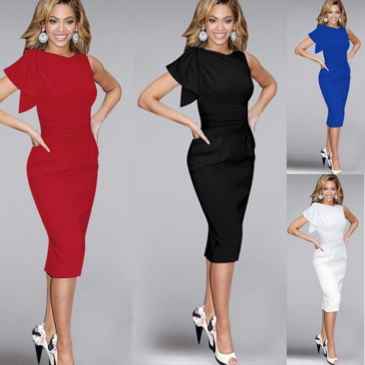 Womens Clubwear Cocktail Party Evening Bodycon Pencil Dresses Midi Dress  Slim Fit Solid Color Ladies Fashion Sleeveless Long Womens Dresses Lace  Sundresses ... 3477e6a9e