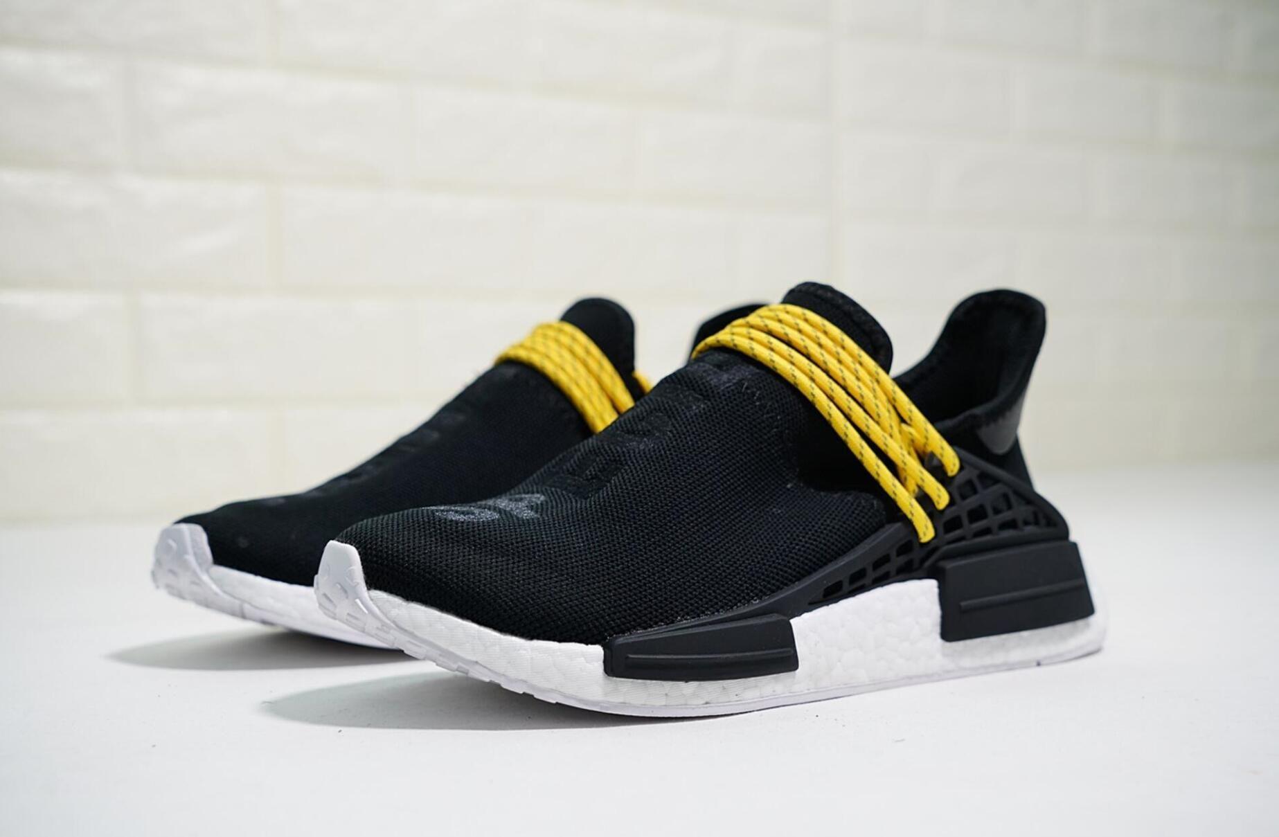 newest a343a a71ca Cheap Human Race Hu Holi casual Shoes Oreo Nobel ink Black Nerd Designer  Men Women Sport Shoes Sneakers 36-46