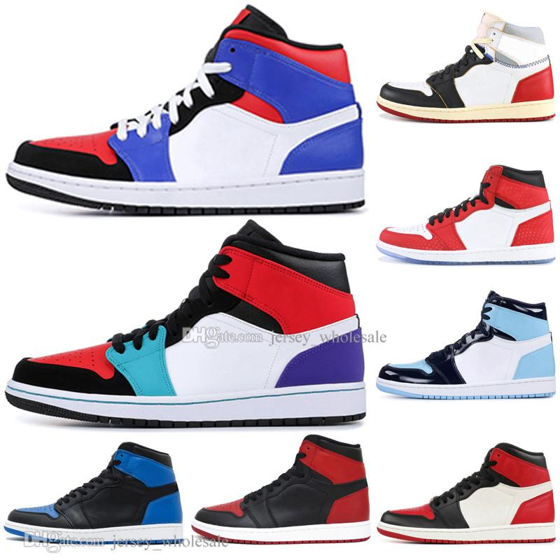 2fe1620a 2019 In Stock 1 OG Banned Bred Toe Spider Man UNC 1s Top 3 Mens ...