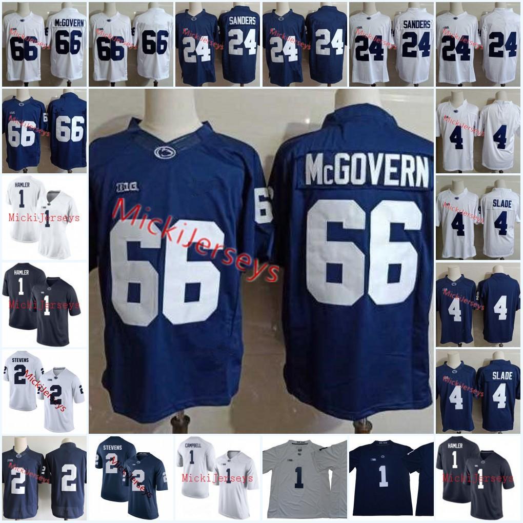 designer fashion 9fc42 e606e Men Penn State Nittany Lions Miles Sanders Football Jersey #2 Tommy Stevens  #4 Ricky Slade #66 Connor McGovern #1 KJ Hamler PSU Jersey S-3XL