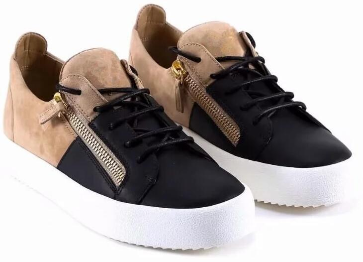 2019 HOT Italy Luxury Casual Shoes Zanotti Zipper Men and Women Low Top Flat Shoes Genuine Leather Mens Shoes Designer Sneakers Trainers z60