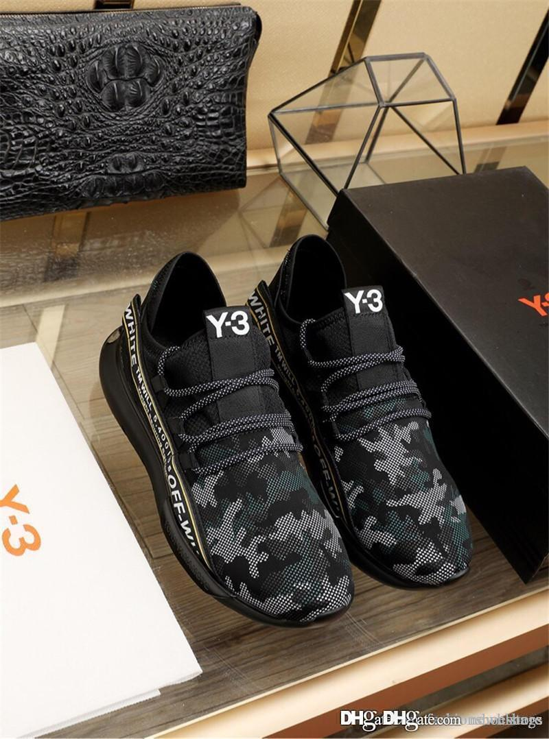 2c8a6b4ce 2018 Fashion Y 3 Saikou Yohji Hot Yamamoto Y3 Pure Boost Primeknit Sneakers  Trainers Shoes With Original Box High Top Shoes Cheap Shoes For Men From ...
