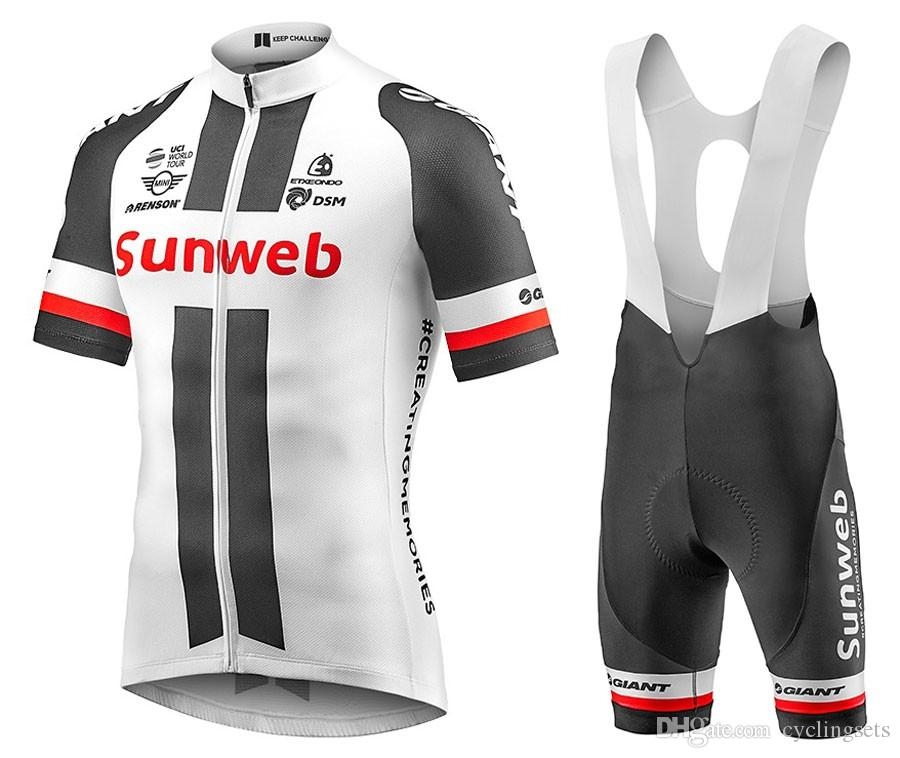 2018 Hot SUNWEB Cycling Jersey White Black Men Short Breathable MTB Bicycle  Cycling Clothing MTB SUNWEB Online with  38.82 Piece on Cyclingsets s Store  ... 74845d81f