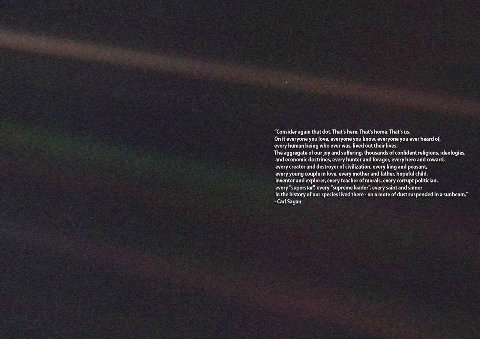 2019 Carl Sagan Pale Blue Dot Quote Space Art Silk Print