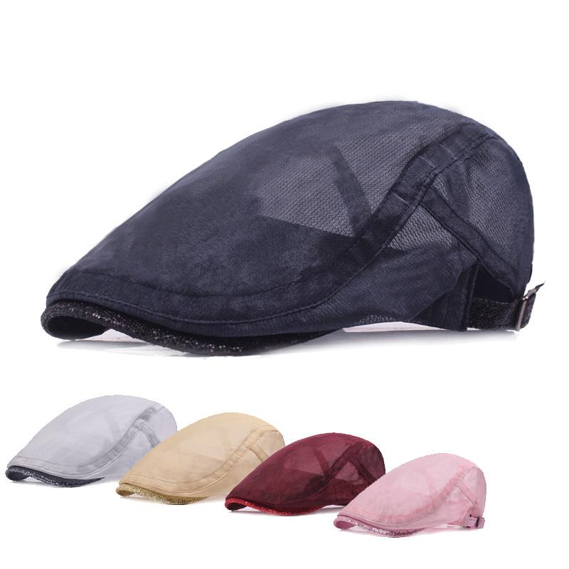 5dcbcecc Net Hat Beret Lady's Cap Duck Tongue Cap Spring And Summer Breathable front  Speedpass Hot Sale Sun Hat Hat for Women Hats Scarves Gloves Hats Caps  Berets ...