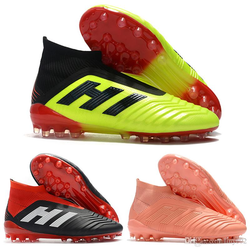 87610225cdc9 New Mens High Ankle Football Boots PAUL POGBA Predator 18+ Firm Ground  Cleats Original PP Predator Telstar 18 X AG Outdoor Soccer Shoes Mens  Sandals Dress ...