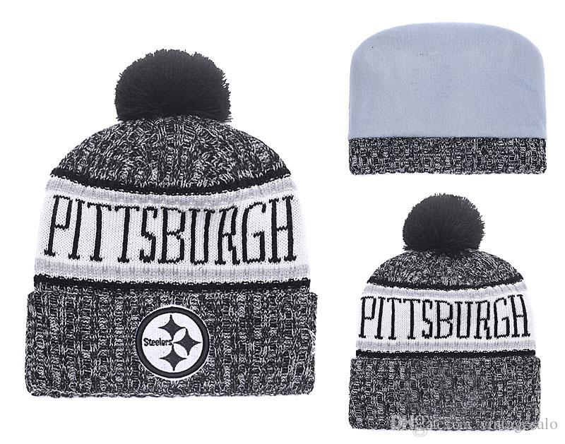 9b504fb9 2019 Cheap Steelers Beanie sport knit hat cuffed hat all football team  beanie Grey Yellow White knit hat