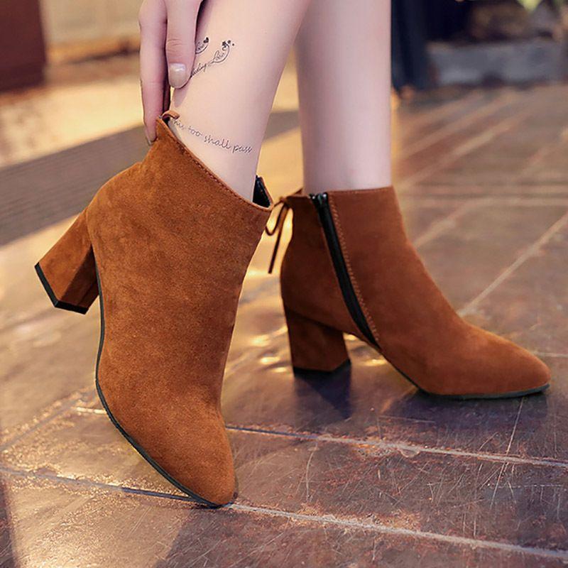 04cdba1b6864b Kleid schuhe masorini sexy mode ankle winter frauen stiefel komfortable  stiefel reißverschluss high heels frauen stiefel frauen pumpen plus größe  ...
