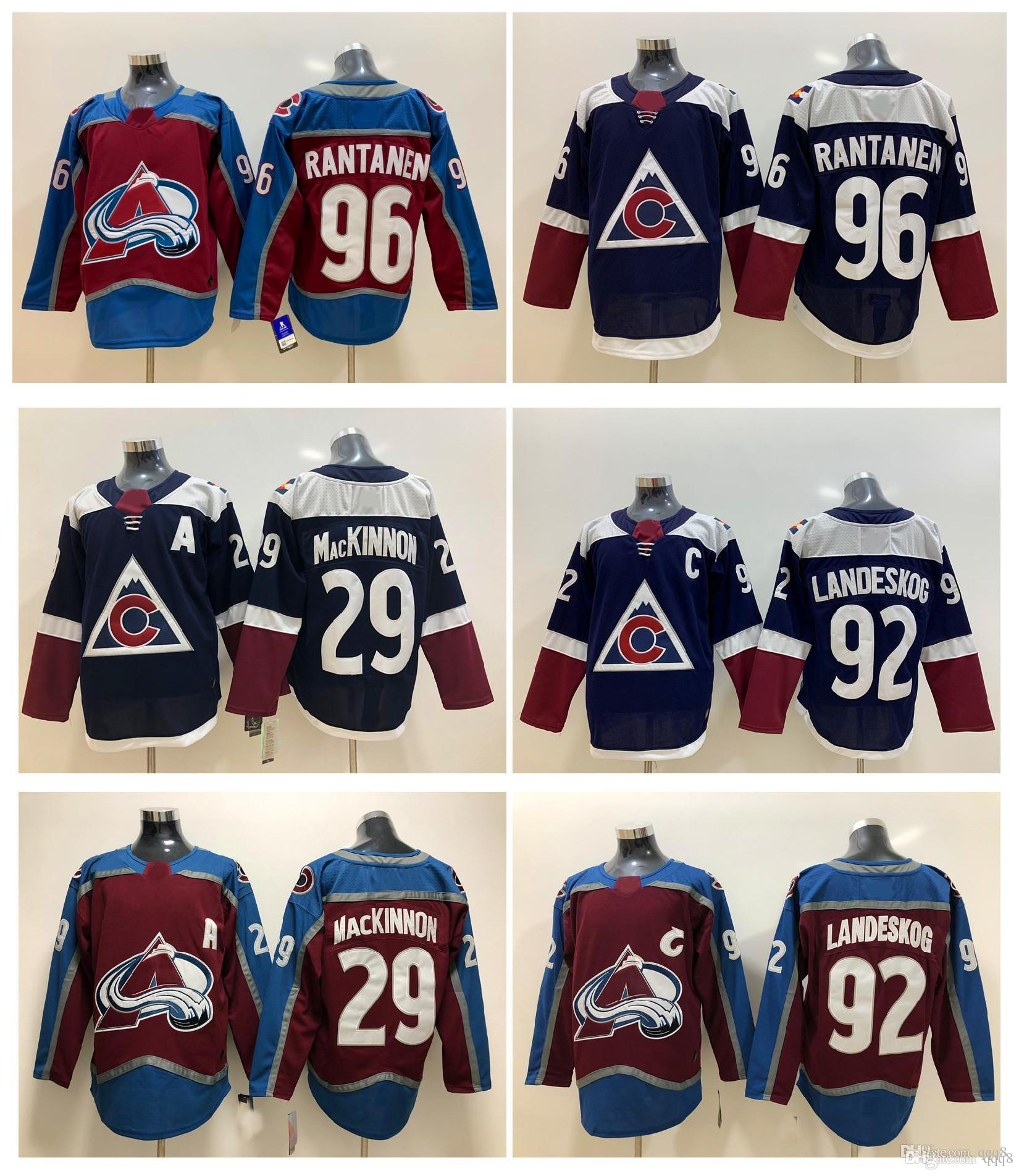 08657849 2019 NHL Colorado Avalanche Jersey 29 Nathan MacKinnon 92 Gabriel Landeskog  96 Mikko Rantanen Red Blue Stitched Ice Hockey Jerseys From Qqq8, ...