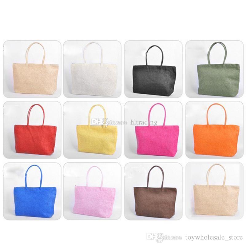 8d32402c7c Women Girls Beach Bags Candy Bag Travel Handbags 2019 Summer Straw Shoulder  Tote Shopper Purses Weave Totes C6243 Popular Teenage Purses Side Bags For  Teens ...
