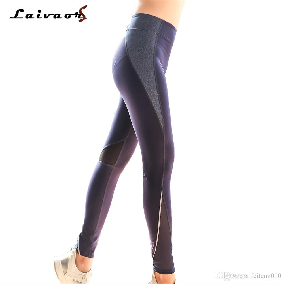 e37f040186ec3 2019 Laivaors Women Sports Mesh Patchwork Yoga Pants Zipper Pocket Gym  Workout Leggings Sexy Running Tights Trousers Plus Size L 4XL #581913 From  Feiteng010 ...